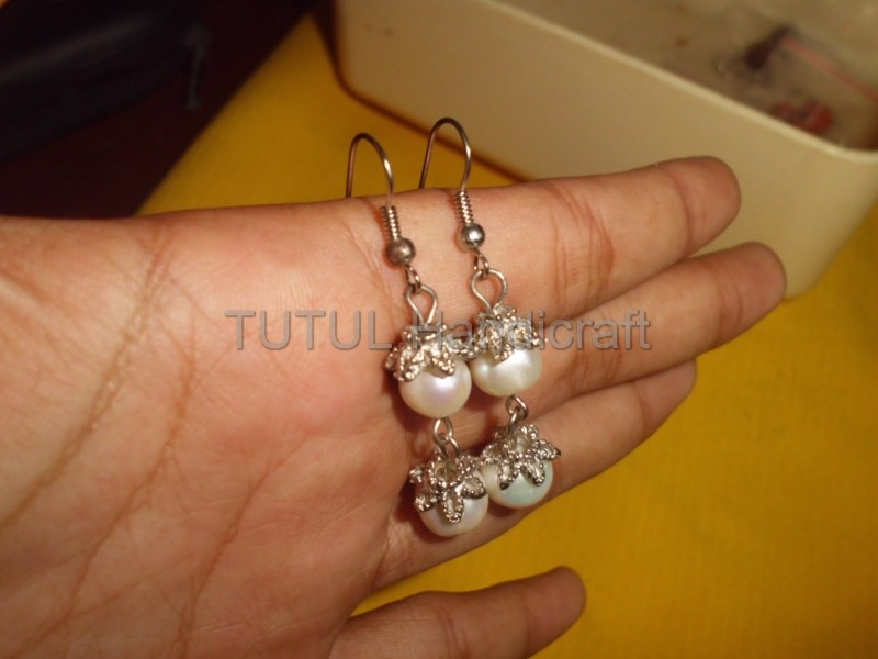 Anting Mutiara Budidaya Air Tawar model 03