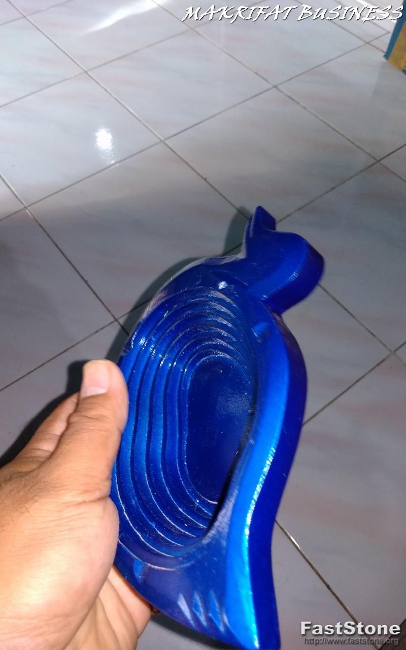 Asbak Unik KAYU MAHUNI Model Angsa  Biru 01