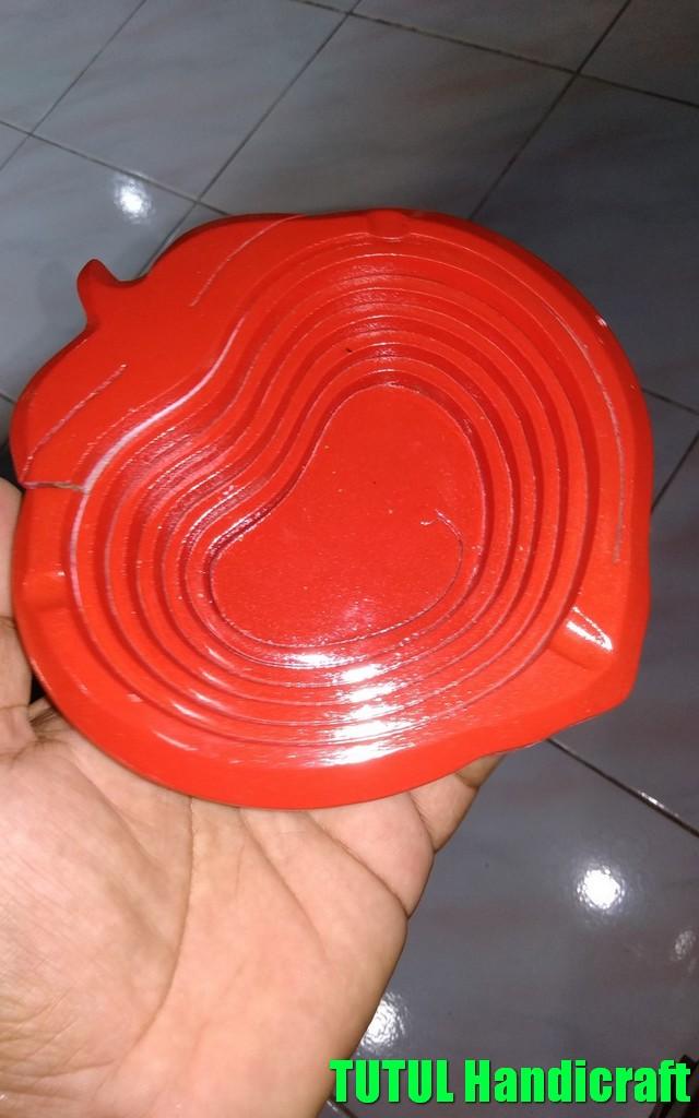 Asbak Unik KAYU MAHUNI Model Apel Merah 01