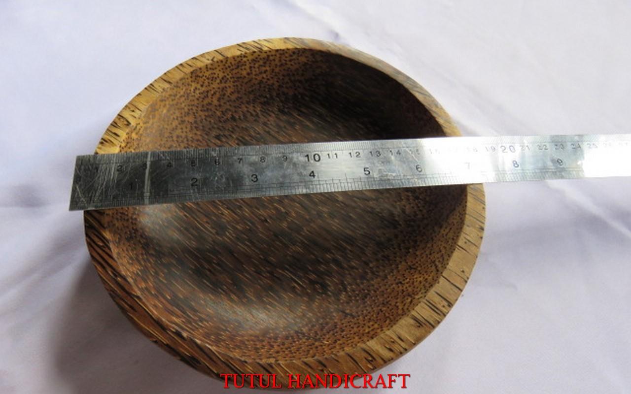 Cobek KAYU AREN Model Bulat  18 mm Paket 1 Pcs
