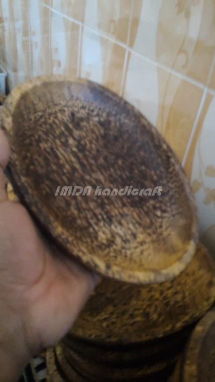 Cobek KAYU AREN Model Oval  20 cm