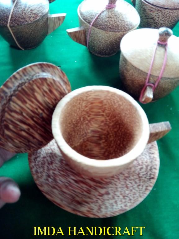 Cangkir kayu kelapa Paket 6 set