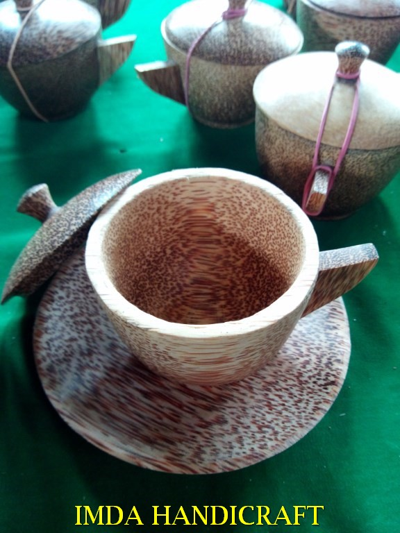Cangkir kayu kelapa 8 set