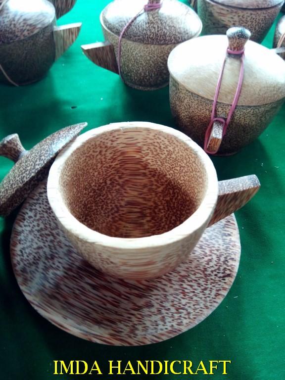 Cangkir kayu kelapa Paket 20 set