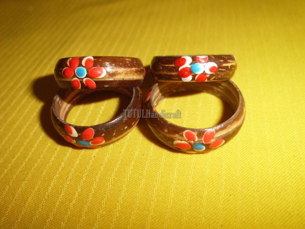 Cincin ring TEMPURUNG BATOK KELAPA motif 01