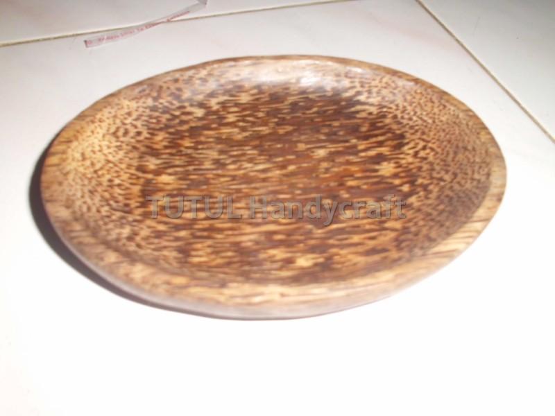 Cobek oVAL KAYU AREN ukuran 15 cm