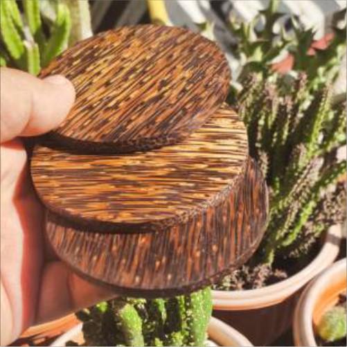 Coaster Kayu Aren 8 cm x 5 6 7 8 mm
