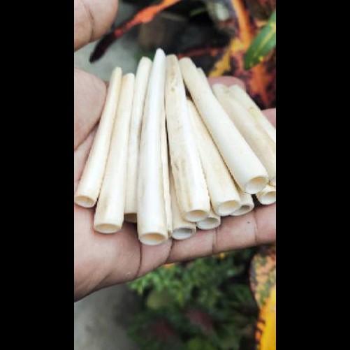 Pipa Once TULANG SAPI Kwalitas AFKIR ada Bekas Tembelan Bekas Bahan Kurang Rapi Panjang 7 8 9 10 cm