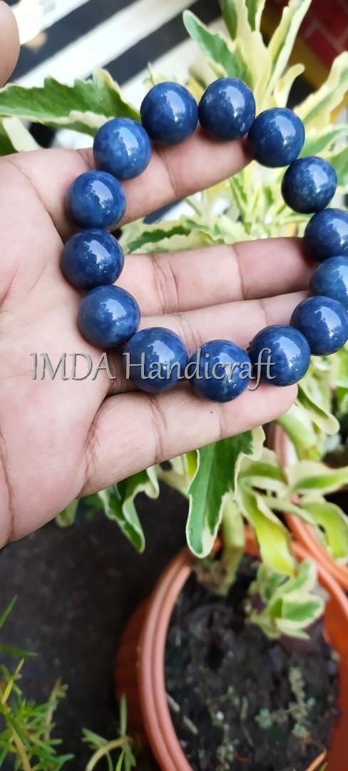 Gelang BATU BLUE CORAL KARANG BIRU 12 MM
