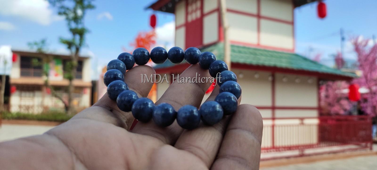 Gelang BATU BLUE CORAL Kwalitas Super 10 mm