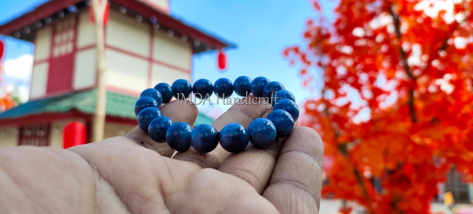 Gelang BATU BLUE CORAL Original Kwalitas Super 10 mm