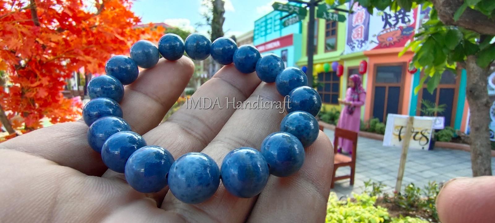 Gelang Creative BATU BLUE CORAL Kwalitas Super 12 mm