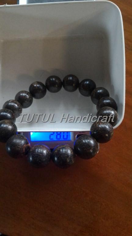 Bracelet Agarwood Gelang GAHARU CENGKEH PAPUA TENGGELAM ukuran 14 mm