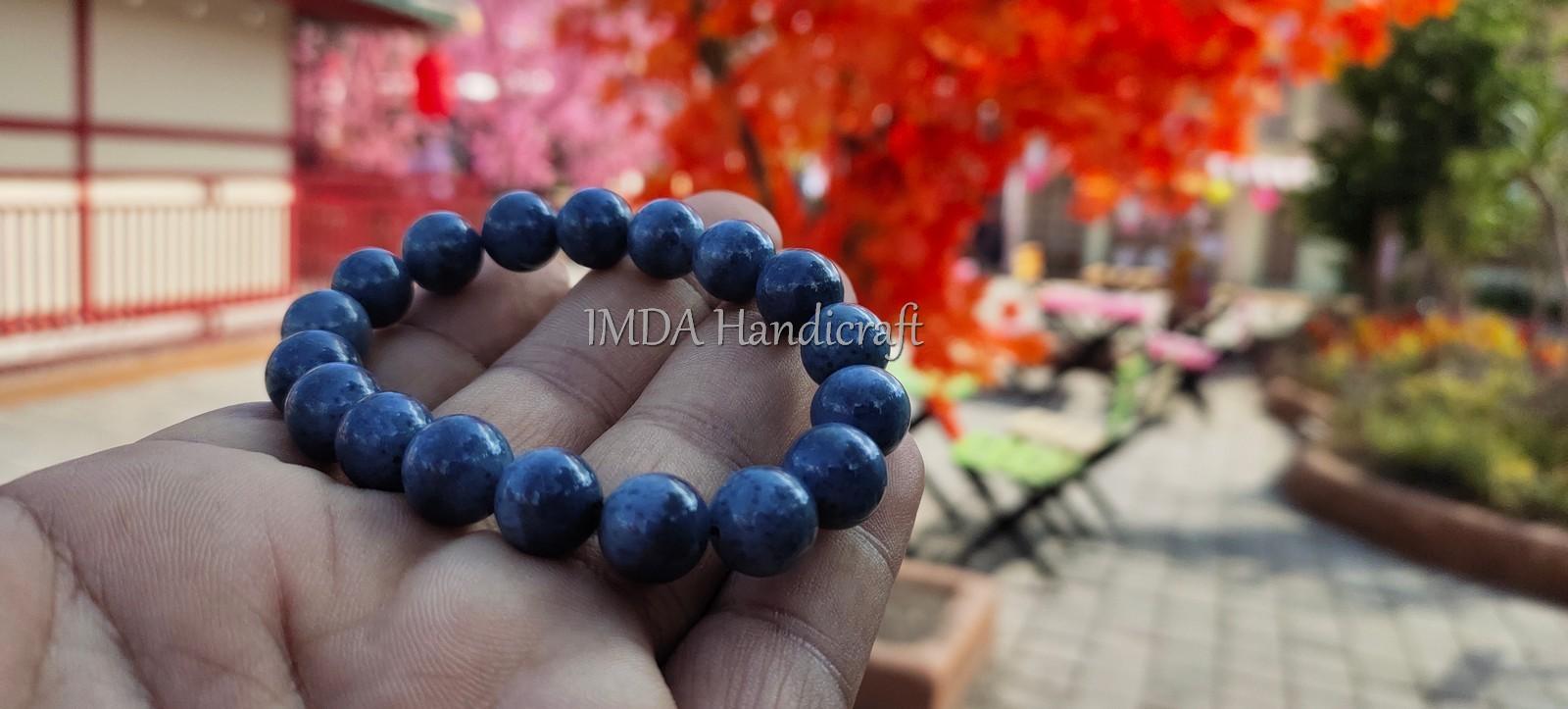 Gelang Etnik BATU BLUE CORAL Kwalitas Super 10 mm