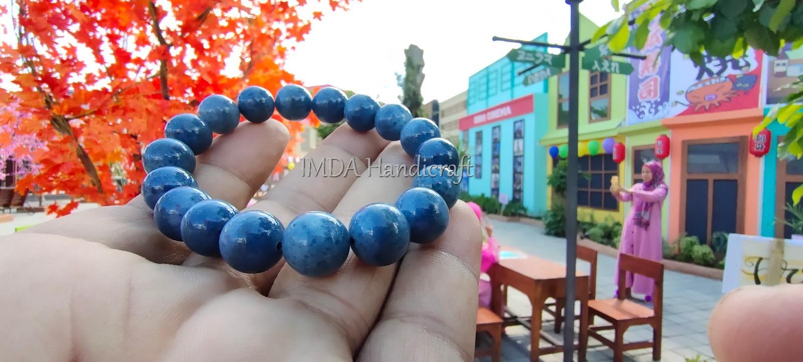Gelang Souvenir BATU BLUE CORAL Kwalitas Super 12 mm