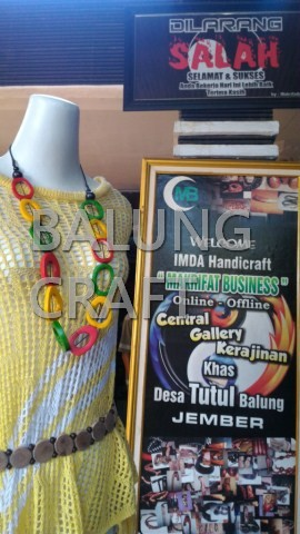Kalung Tulang Sapi Model Polong Mix Warna  01