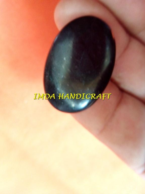 Liontin batu BLACK JADE Giok Hajar aswaj  Aceh Bulat oval 10