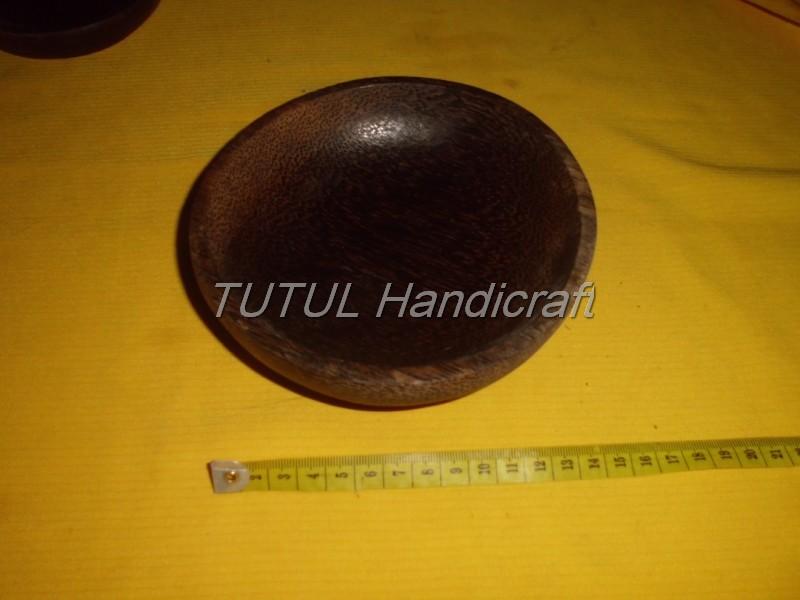 Mangkok KAYU AREN lapis antigores ukuran 15 cm