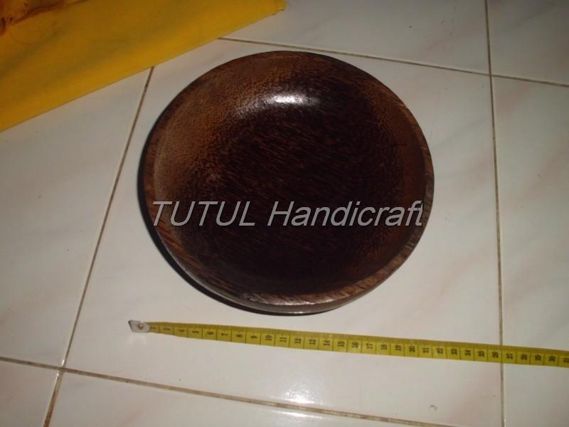 Mangkok KAYU AREN lapis antigores ukuran 20 cm