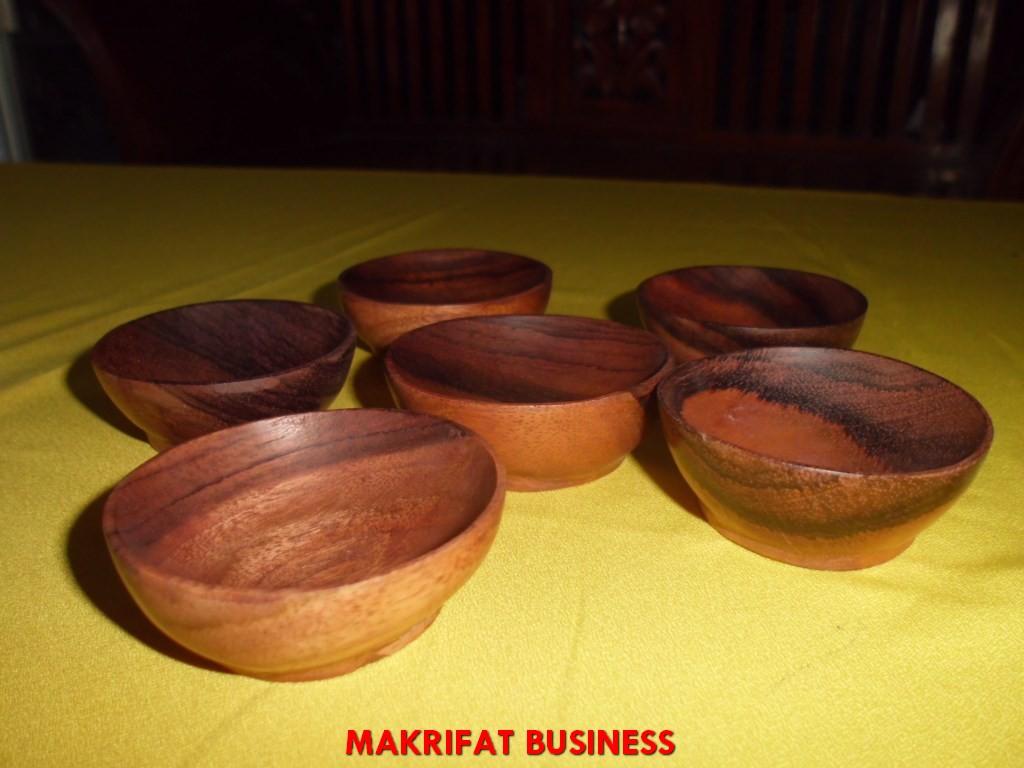 Mangkok sambal kayu SONOKELING dimater 7 cm - 7,5