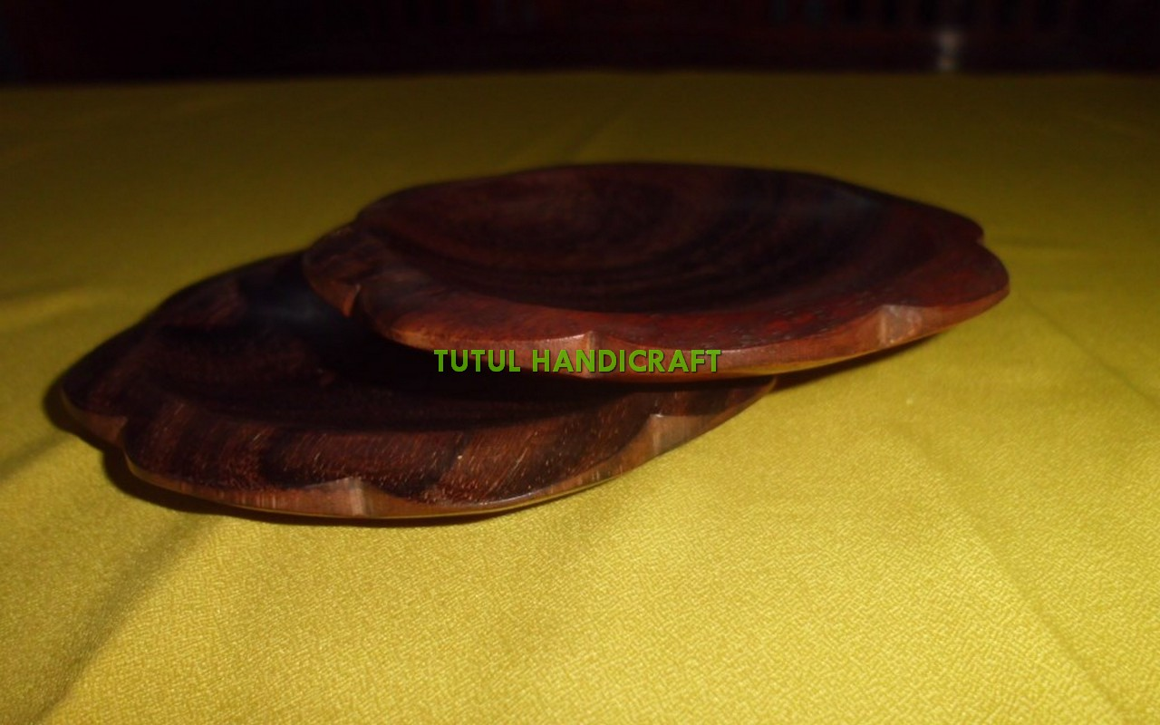 Mangkok sambal kayu SONOKELING model belimbing dimater 10 cm