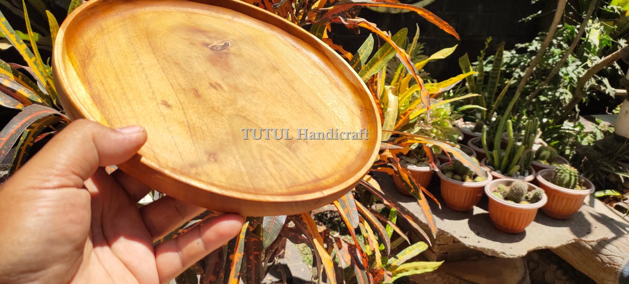 Piring Cacat  Kayu Jati 30  x 2.5 cm