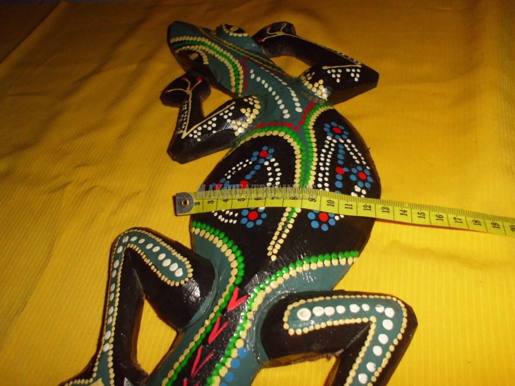 Patung CICAK KAYU panting panjang 50 cm model 03