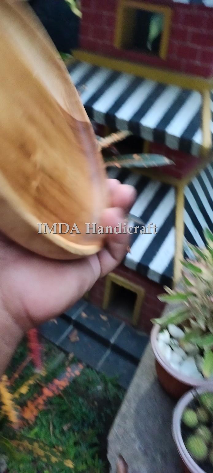 Piring Liuk Kayu Jati 18 x 2.5 cm