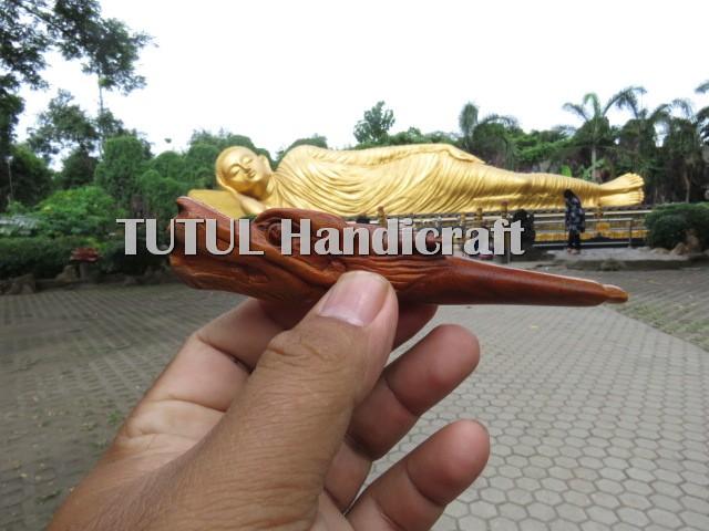 Pipa Once Cangklong KAYU SECANG BRAHMA Ukir Naga Minimalis 01