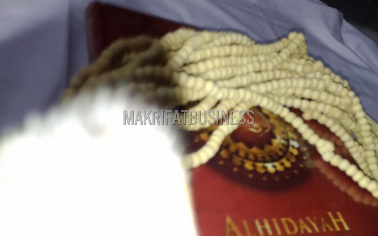 Tasbih Muslim Kayu KOPI PUTIH Warna Natural  99 Biji 8 mm