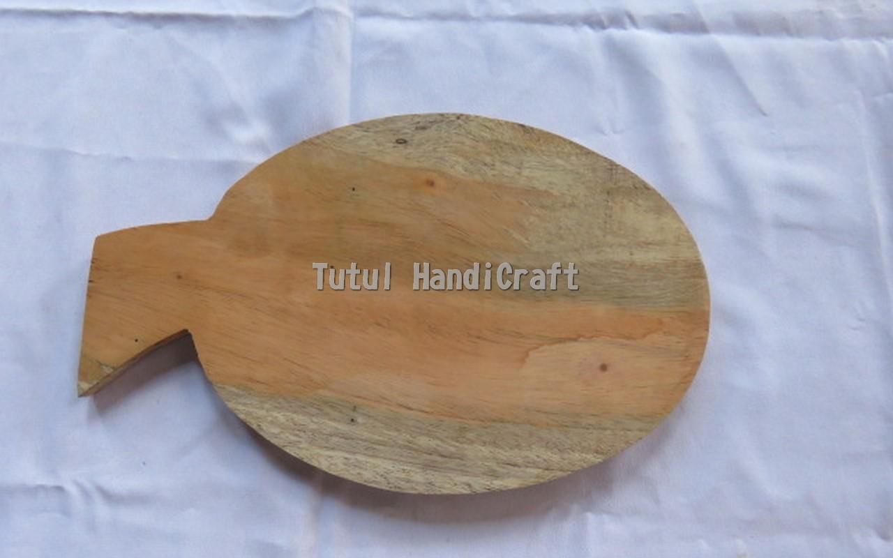 Telenan KAYU MAHUNI Model Daun Ukuran 3 x 30 cm