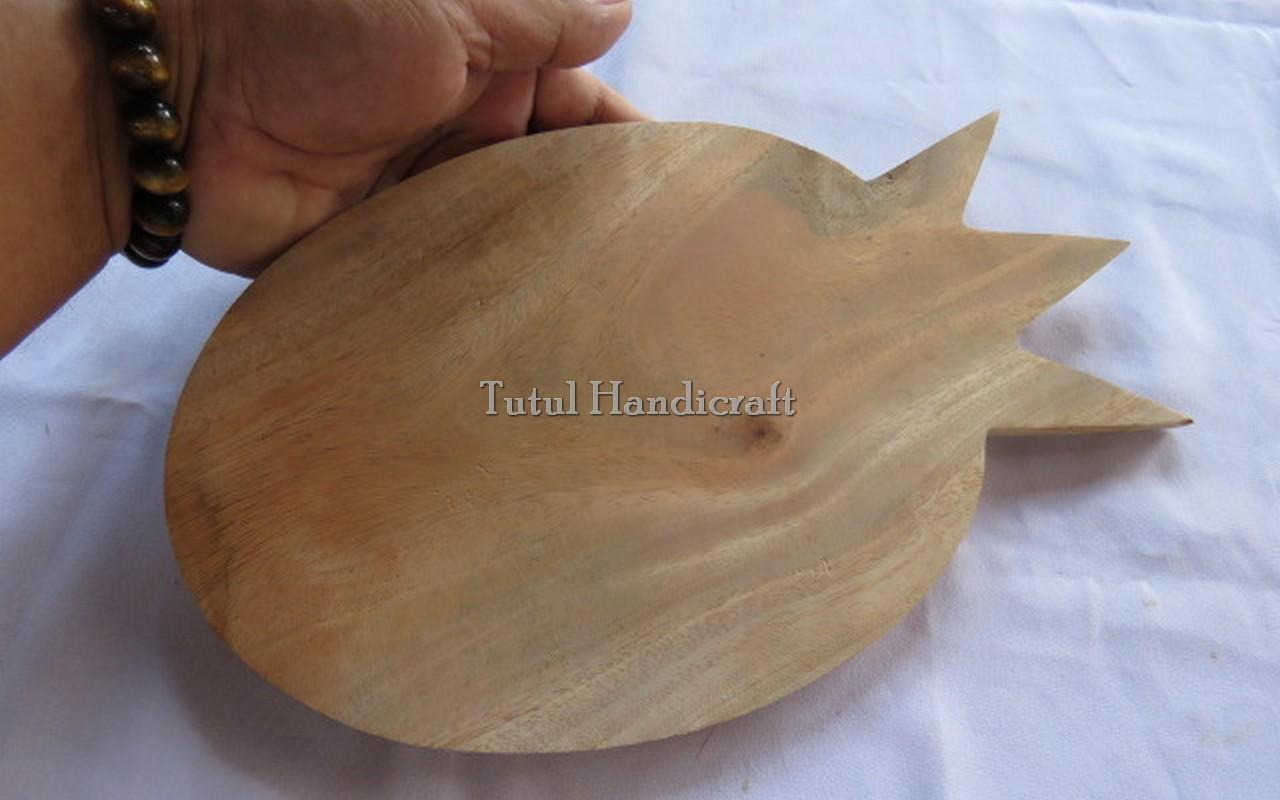 Telenan KAYU MAHUNI Model Waru Ukuran 30 x 3 cm