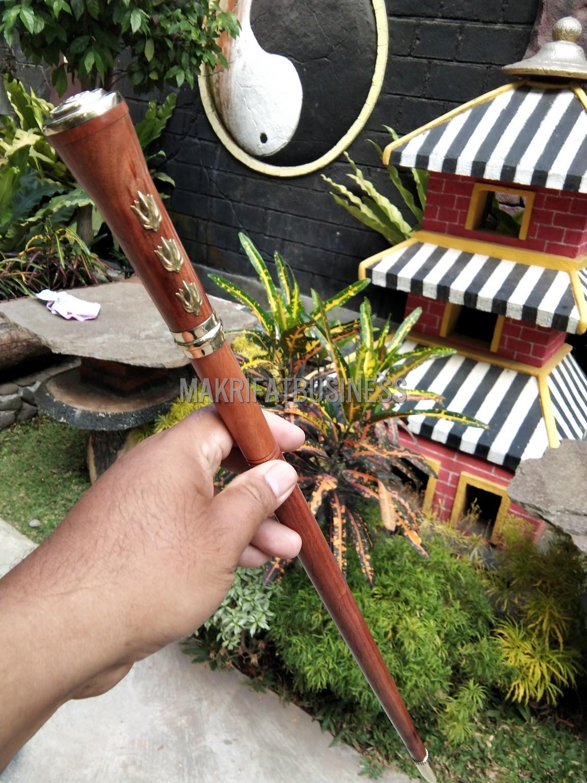 Tongkat Komando KAYU STIGI WULUNG TNI Model Minimalis