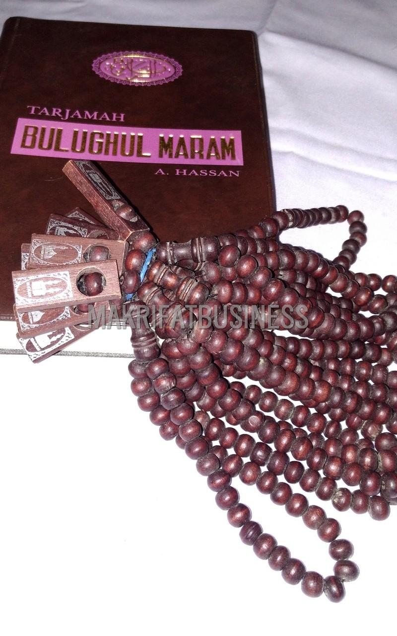 Tasbih Muslim Kayu Kopi Coklat 33 Biji 8 mm