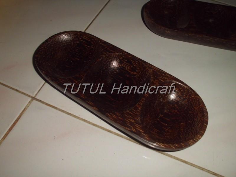 Mangkok Sambal KAYU AREN lapis antigores isi 3 cm